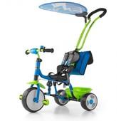 Велосипед 3х колёсный M.Mally Boby Deluxe 2015 с подножкой (blue-green)
