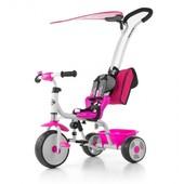 Мы в Киеве! велосипед 3х колёсный детский M.Mally boby Deluxe 2015 с подножкой (pink)