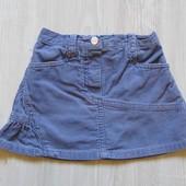 Стильная вельветовая юбка для девочки. George. Размер 1.5-2 года. Состояние: идеальное
