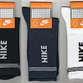 Носки мужские демисезонные х/б спортивные Nike, 41-44 размер, высокие.