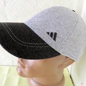 Бейсболка кепка весна- лето комбинированный трикотаж.