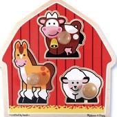 Вкладыши для малышей «Животные с фермы», Melissa&doug Артикул: MD2054