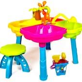 Столик-песочница Kinderway со стульчиком и набором аксессуаров (01-121)