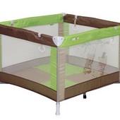 Манеж детский игровой Bertoni Play beige&green bears