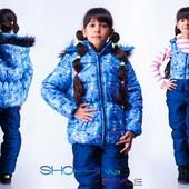 Тёплый зимний костюм для девочки и мальчика 4 цвета