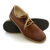 Коричневые мужские туфли ботинки кожаные
