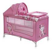 +видео! Детская кроватка-манеж Bertoni Nanny 2 Layers plus (pink kitten)