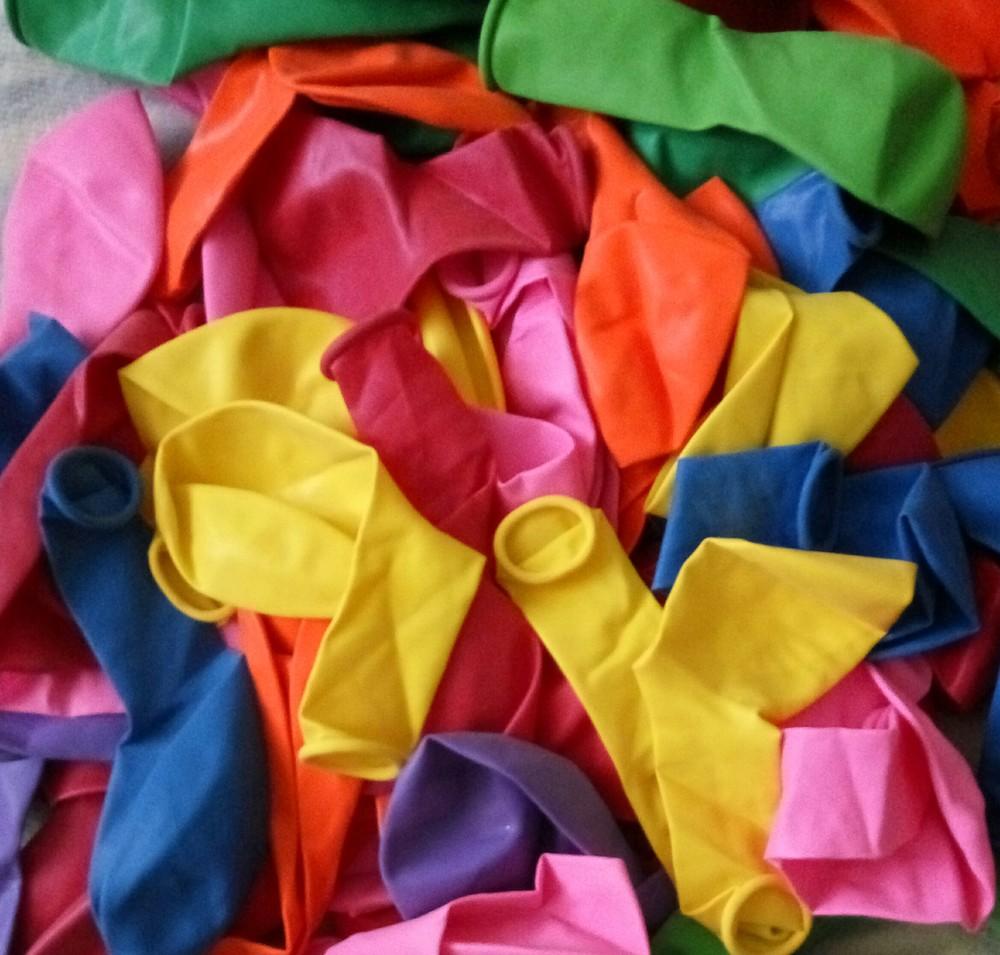 100штук Латексные вздушные  шарики размер 10дюймов разные цвета фото №1
