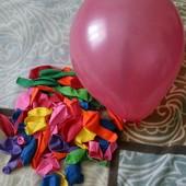 100штук Латексные вздушные  шарики размер 10дюймов разные цвета