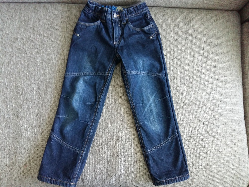 Утеплені джинси на зріст 110см. фото №1