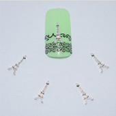 3D объемные наклейки на ногти Эйфелева башня.Новинка!
