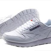 Кроссовки Reebok CL Leather White, р. 36-41, натур. кожа, код kv-4200