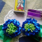 Заколки - полевые цветы