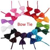Бабочка галстук для торжества, цвета черный, красный, белый, голубой, синий