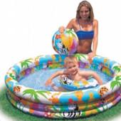 Детский надувной бассейн, круг, нарукавники Intex