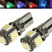 LED (светодиодные) лампочки Т10 (W5W) в габаритные огни