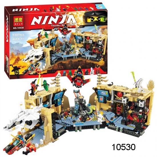 Акция бела ниндзя 10530 конструктор bela ninjago ниндзяго хаос в х-пещере фото №1