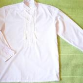 Мужская вышиванка с ручной вышивкой белым по белому