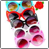 Солнцезащитные очки кошечки на девочек