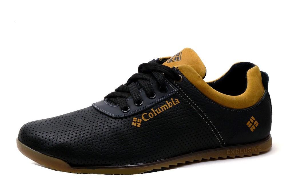 Туфли columbia exc, натур. кожа, перфорация, р. 40-45, код kv-2990 фото №1