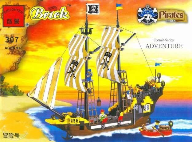 Конструктор brick 307 пиратский корабль фото №1