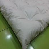 Невесомое(400 гр),теплейшее,пуховое(90%пух10%перо)одеяло 120/140 Как новое!