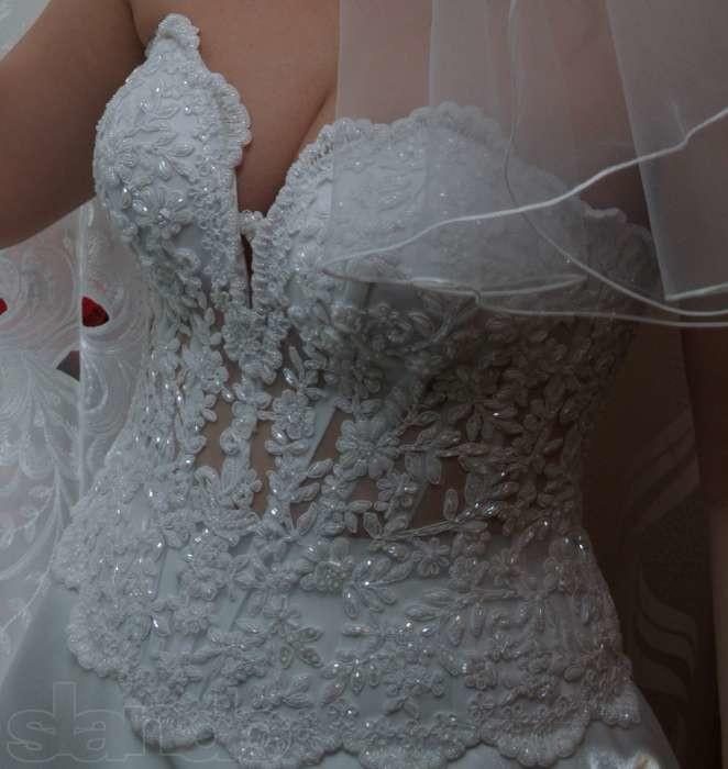 Шикарный свадебный наряд 48-50 р. фото №1