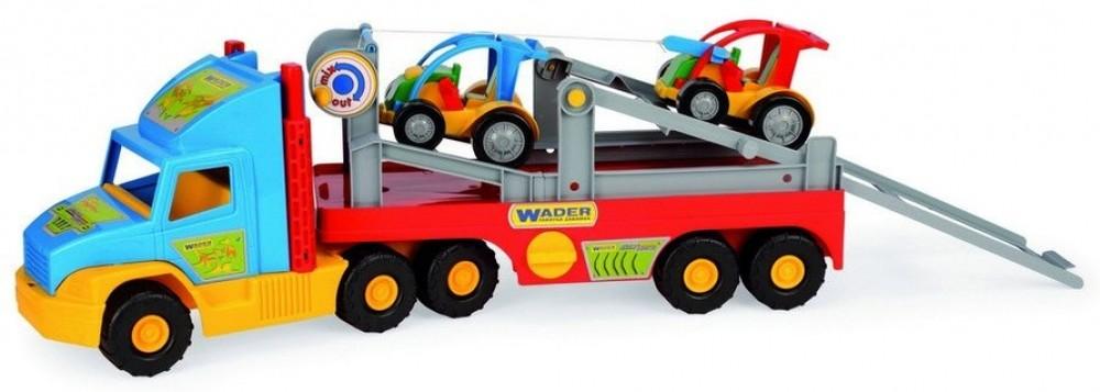 Wader super truck перевозчик с авто 36630, 75 см фото №1