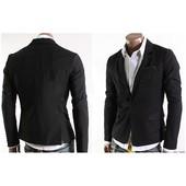 Пиджак приталенный,размеры: S, M, L ,XL.чёрный (2с,з