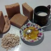 натуральное мыло-пилинг молоко-мед-овсянка с нуля