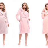 Женские халатики  оттенки кремового и розового  Польша