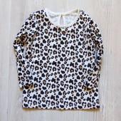 Новый реглан в леопардовый принт для девочки. Matalan. Размер 6-9 месяцев