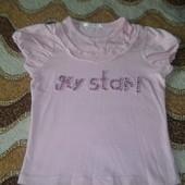 Обалденная футболка, блузка со стразами. To be too. На бирке 30.