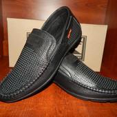 Мужские кожаные мокасины Braxton 41 размер