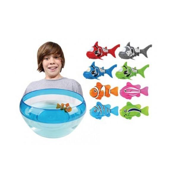 Интерактивная рыбка robo fish работает плавает имитирует жизнедеятельность в воде фото №1