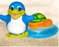 Забавное купане  пингвин и черепашка от baby team  (великобритания) фото №1