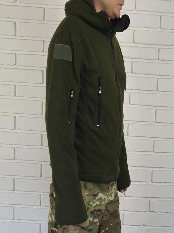 (2з)Флисовая куртка цвета хаки. Размеры: M L XL фото №1