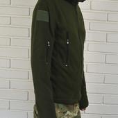 (2з)Флисовая куртка цвета хаки. Размеры: M L XL