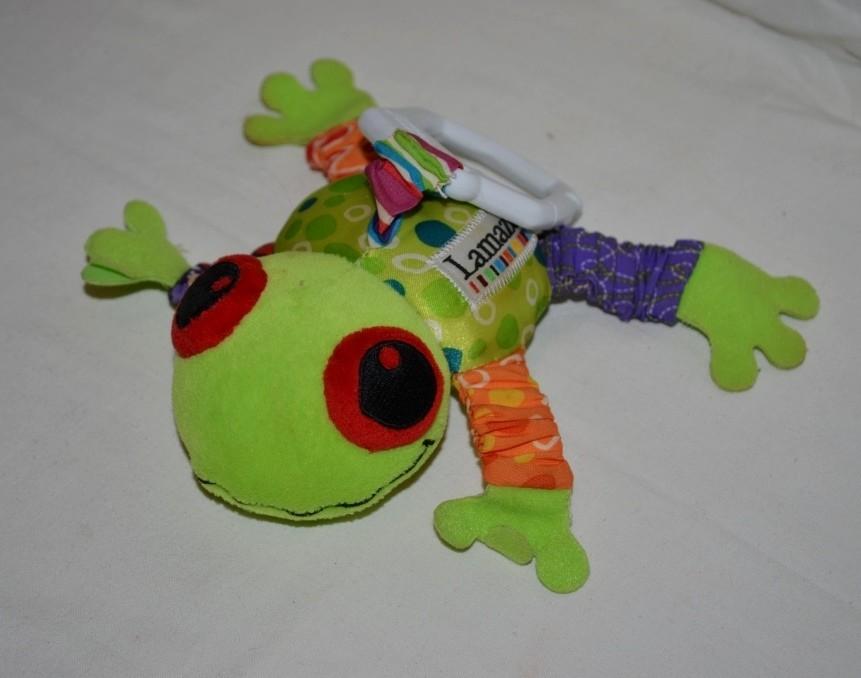 Ламазе lamaze маленький лягушонок жабка подвеска развивающая фото №1