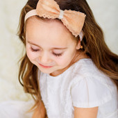 Повязка для девочки с кружевными бантиками.Повязки для девочек