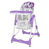 Стульчик для кормления Bertoni Primo Violet Bunnies удобный и безопасный для кормления и игр малыша.