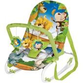 Шезлонг-качалка для детей  Bertoni Top Relax xl, Green Jungle