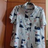 Рубашка летняя 48 размер хлопок УП10