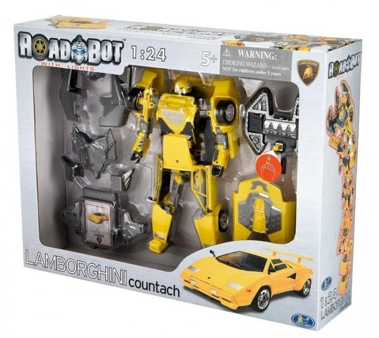 Распродажа - робот-трансформер  lamborghini countach 1:24 от roadbot фото №1