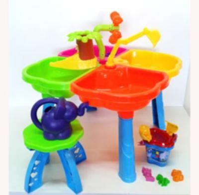 Песочный столик с набором, стульчиком, в кор. 60*34*17см, украина, 01-121 фото №1