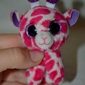 Глазастик симпатяга мягкий жираф жирафик брелок TY