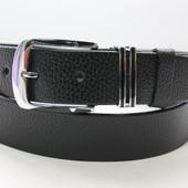 Ремень кожаный классический 35 мм чёрный