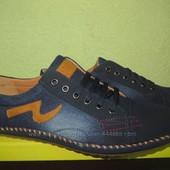 Новиночка чоловічі мокасини-туфлі джинс 40-45