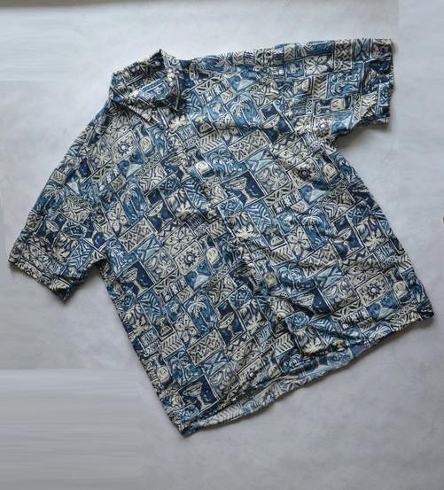 Шелк 100% рубашка sangan xl фото №1