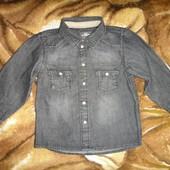 Джинсовая рубашка H&M 12-18 мес
